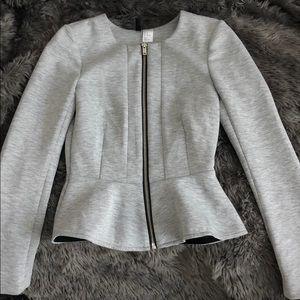Peplum crop zip up jacket/Top